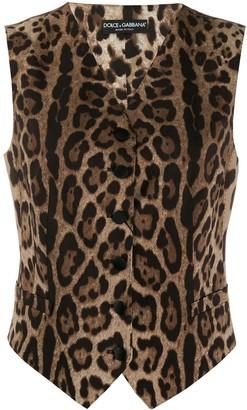 Dolce & Gabbana leopard print waistcoat