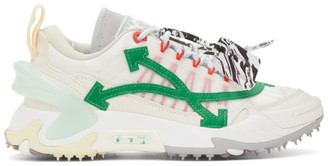 Off-White and Green Odsy-2000 Sneakers