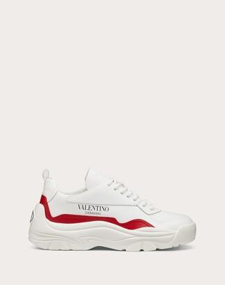 Valentino Gumboy Sneaker In Calfskin Women Black/white Polyamide 100% 37