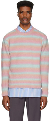 ANDERSSON BELL Pink Brushed Striped Sweater