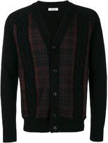 Valentino tartan panel cardigan - men - Acrylic/Polyamide/Spandex/Elastane/Virgin Wool - S