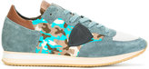 Philippe Model camouflage lace-up sneakers
