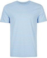 Topman Topman Blue Stripe Slim Fit T-shirt