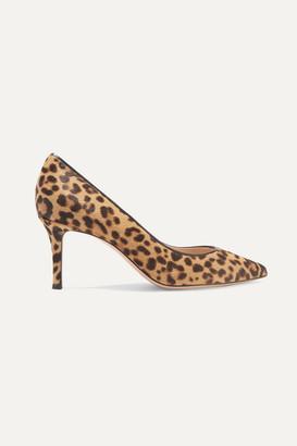 Gianvito Rossi 70 Leopard-print Calf Hair Pumps - Leopard print