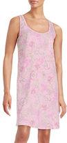 Miss Elaine Floral Print Sleeveless Nightgown