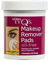 Andrea Eye Q's Oil-free Eye Makeup Remover Pads, 65 Count by