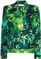 Versace Palm print denim jacket
