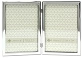 Lawrence Frames 5x7 Hinged double Silver Standard Metal Picture Frame