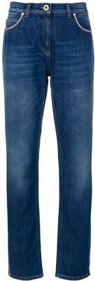 Versace Chain-Trimmed Jeans