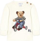 Ralph Lauren Knitted teddy bear cotton jumper 12-28 months