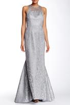 Shoshanna Sparkling Lace Evening Dress