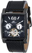 Adee Kaye Unisex ak9043-MIPB Wall Street Analog Display Automatic Self Wind Black Watch
