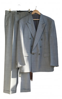 Christian Dior Silver Wool Suits