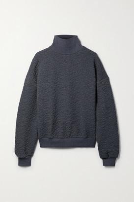 Twenty Montreal 3d Cracked Earth Textured-jersey Turtleneck Sweatshirt