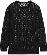 Stella McCartney Ines Metallic-trimmed Lace Sweater - Black
