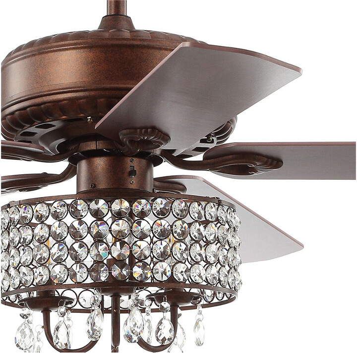 Thumbnail for your product : Jonathan Y Designs Becky 52In 3-Light Crystal Led Chandelier Fan With Remote