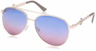 Rocawear Women's R3297 Rgdnd Non-Polarized Iridium Aviator Sunglasses