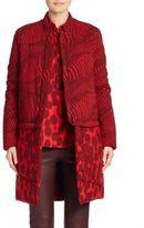 Akris Genesis Zebra & Cheetah Print Wool Parka