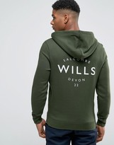 Jack Wills Hoodie With Wills Logo In Pine