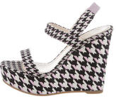 Christian Dior Houndstooth Platform Wedges