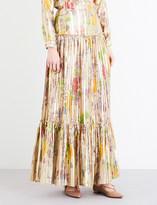 Etro Paisley-print silk-blend maxi skirt