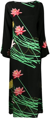 BERNADETTE Lily-print silk dress