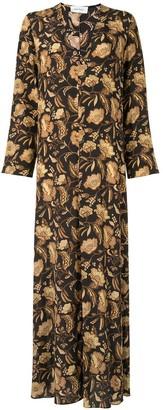 Matteau Ginger Hibiscus maxi dress