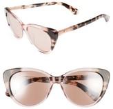Kate Spade Women's Sherylyn 54Mm Sunglasses - Black/ Havana