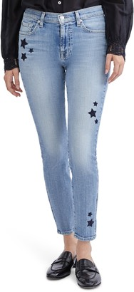 Seven London Star Embroidered Ankle Skinny Jeans
