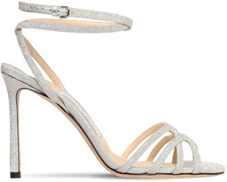 Jimmy Choo 100mm Mimi Fine Glitter Sandals