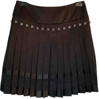 Chanel Black Silk Skirt for Women Vintage