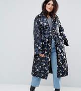 Dolly & Delicious Plus Premium Embroidered Jacquard Maxi Kimono Jacket