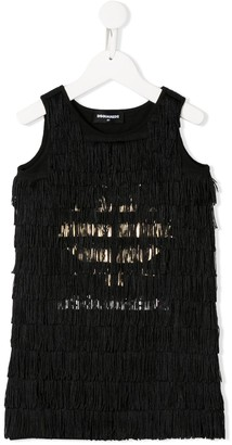 DSQUARED2 Sleeveless Fringed Dress
