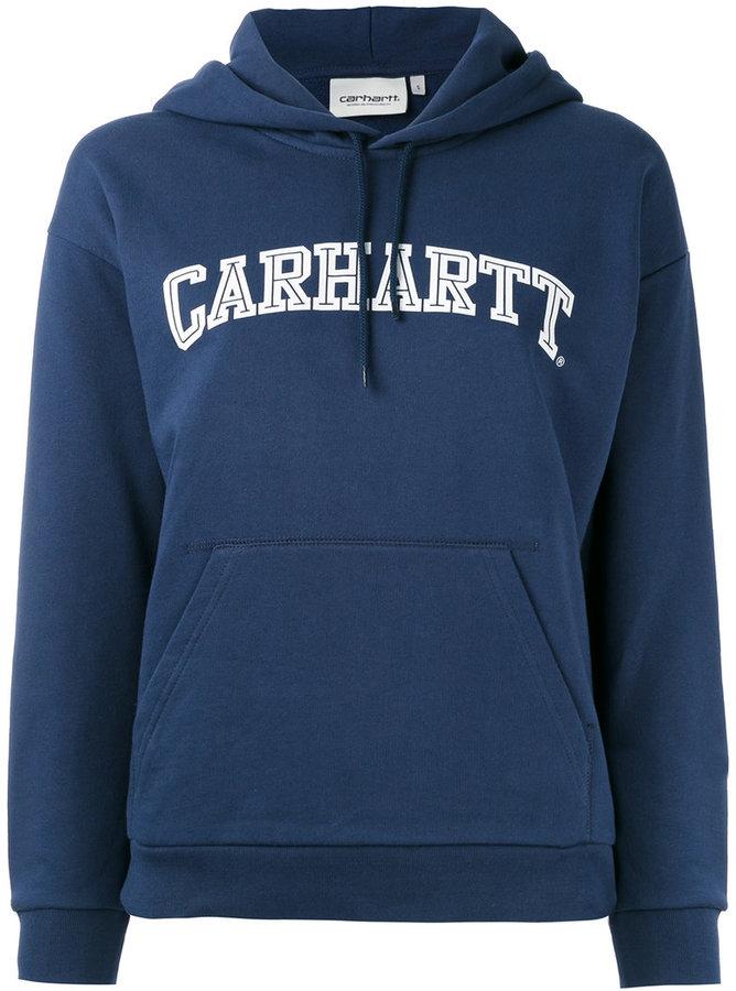 Carhartt logo print hoodie