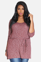 Fashion to Figure Kaylee Side Slit Hacci Tunic
