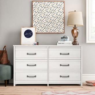 Three Posts Teen Millom 6 Drawer Double Dresser Color: Ivory Oak