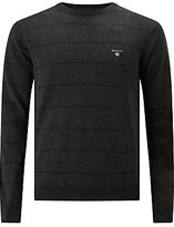 Gant Cotton Wool Breton V-neck Jumper