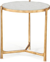 Jonathan Charles Rae 25 Round Mirrored Side Table, Gold