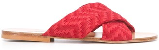 Eres Woven Cross-Strap Sandals