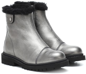 Jimmy Choo Voyager II heated leather ankle boots