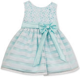 Rare Editions Flowers and Stripes Illusion Dress, Baby Girls (0-24 months)