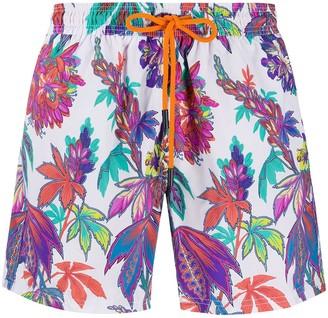 Etro floral-print swim shorts