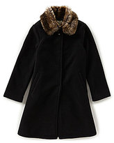 Copper Key Big Girls 7-16 Fleece Faux-Fur Collar Coat