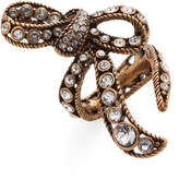 Marc Jacobs Women's Crystal Bow Wrap Statement Ring