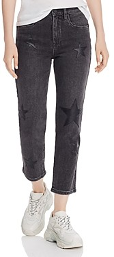 Blank NYC Star-Applique Straight-Leg Jeans in Ever After