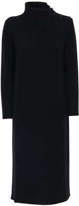 Max Mara Wool & Cashmere Turtleneck Sweater Dress