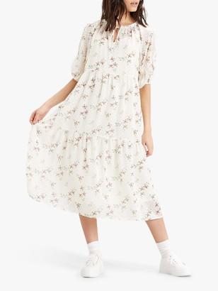 Levi's Azalea Floral Print Tiered Dress, Verdite Tofu