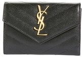 Saint Laurent Women's 'Monogram' Quilted Leather French Wallet - Black