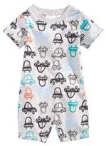 First Impressions Car-Print Cotton Romper, Baby Boys (0-24 months), Created for Macy's