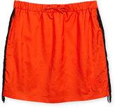 Karl Lagerfeld Fringe-Trim Knit Skirt, Orange, Size 6-10